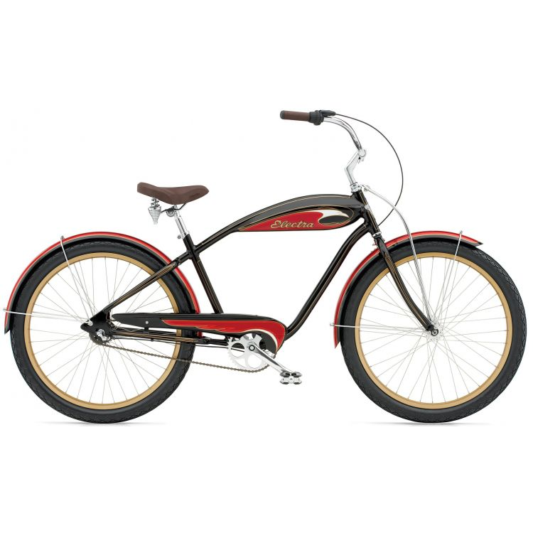 "Велосипед 26"" ELECTRA Mulholland 3i (Alloy) Men's black/red"