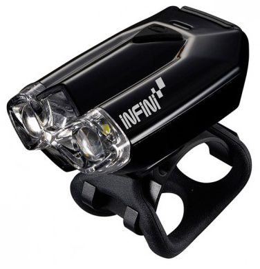 Фара передняя INFINI I-260W черн. 2 светодиода, 4 режима, USB, крепл. батар.