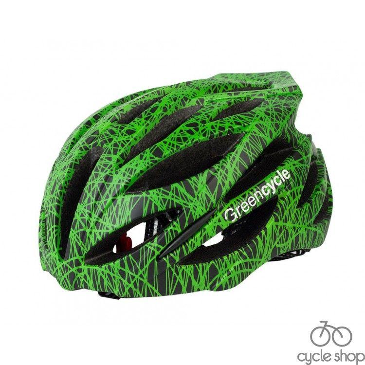 Шлем Green Cycle Alleycat черно-зеленый