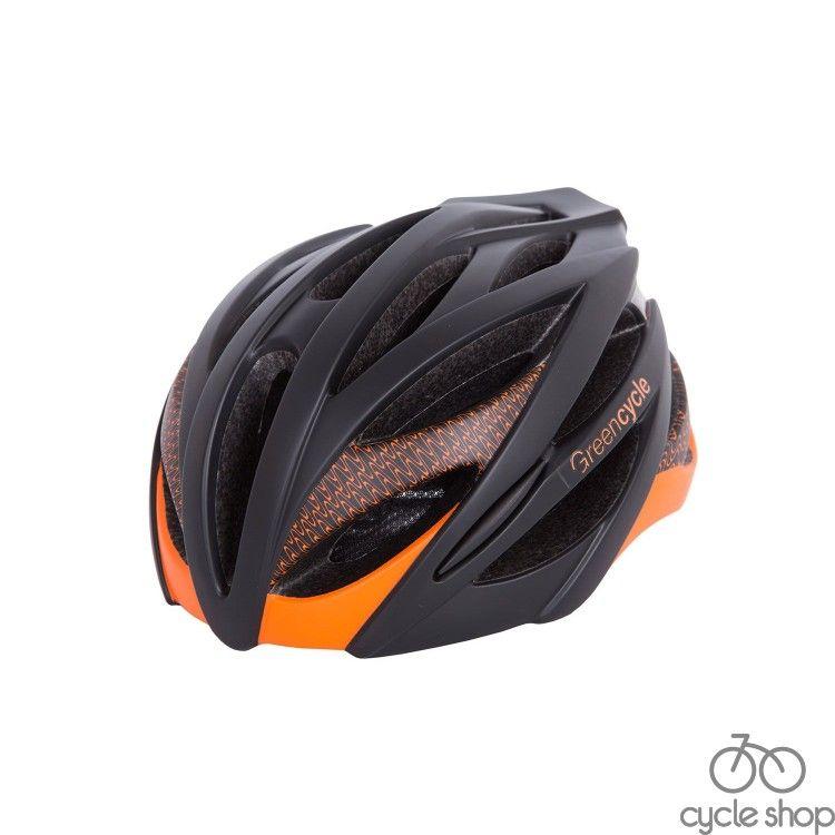 Шлем Green Cycle New Alleycat черно-оранжевый матовый