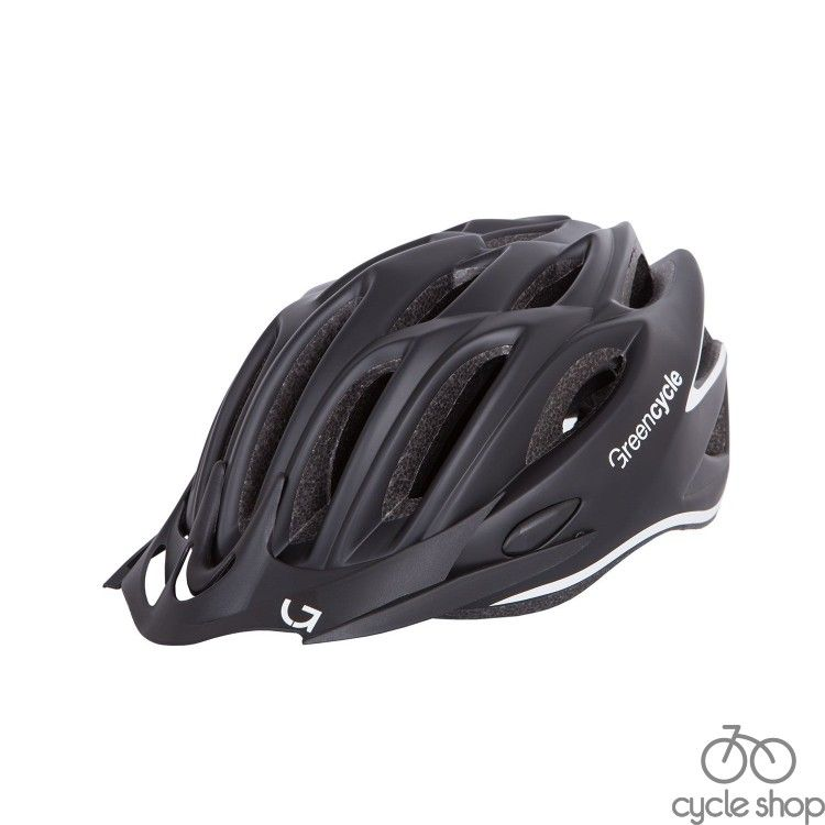 Шлем Green Cycle New Rock черно-белый матовый