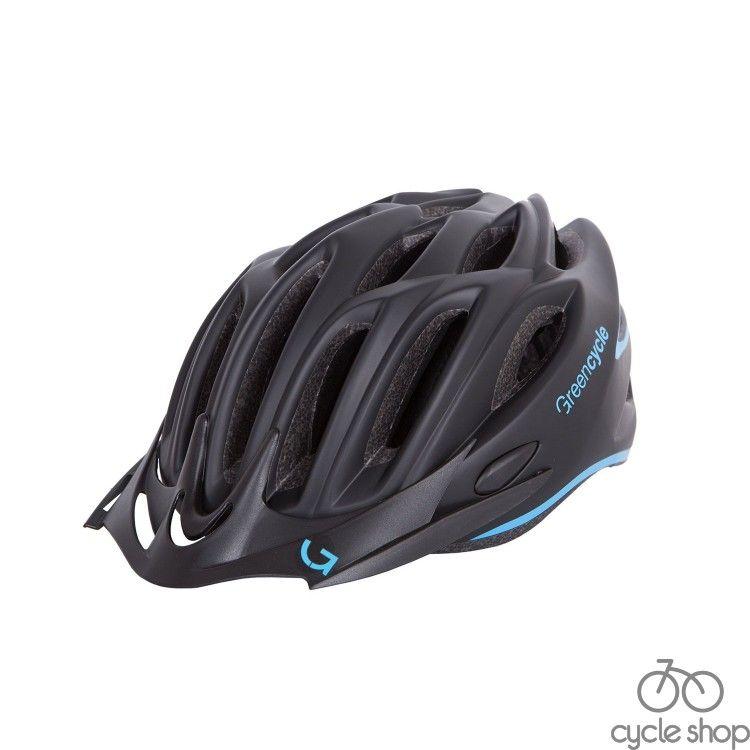 Шлем Green Cycle New Rock черно-голубой матовый