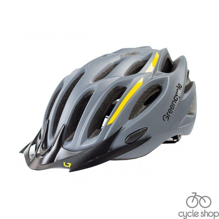 Шлем Green Cycle Rock серо-желтый
