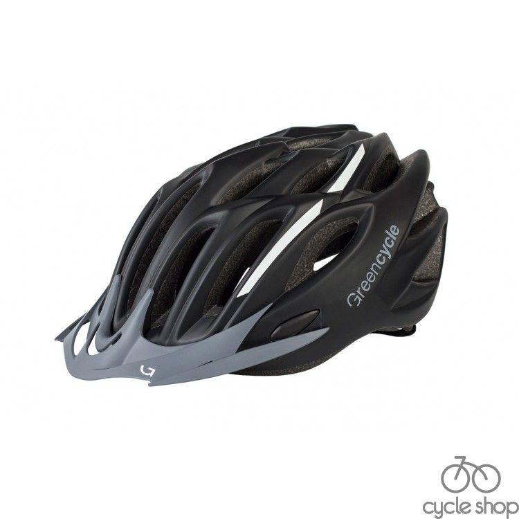 Шлем Green Cycle Rock черно-белый