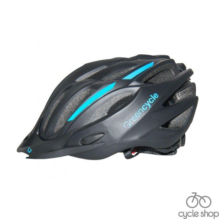 Шлем Green Cycle Rock черно-синий