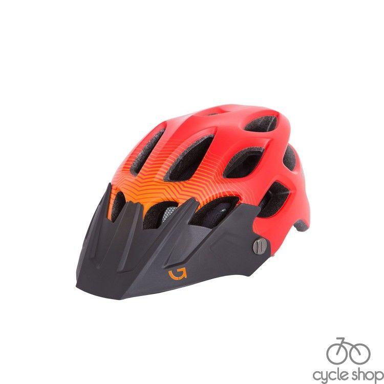 Шлем Green Cycle Slash красный-оранж-черный матовый