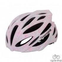 Шлем Green Cycle Alleycat серо-розовый