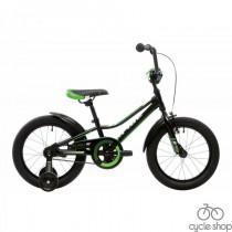 """Велосипед 16"""" Pride Flash черно-зелёный 2018"""