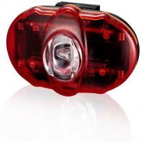 Фонарь светодиодн задн +батар. INFINI I-406 Vista 3 SMD LED, 2 режима, крепл.