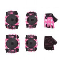 Защита для детей Green Cycle IceCream Pink наколенники, налокотники, перчатки