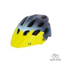 Шлем Green Cycle Slash синий-голубой-желтый матовый