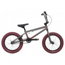 "Велосипед 16"" Stolen AGENT 2020 MATTE RAW SILVER W/ RED TIRED"